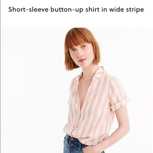 J.crew Short sleeved button up in Wide Stripe